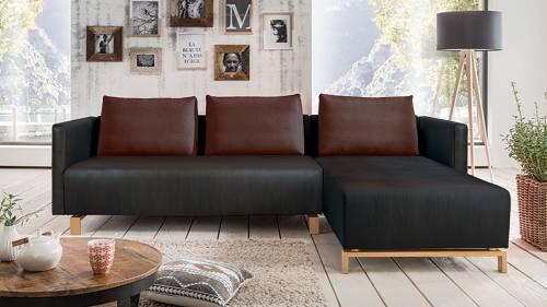 Couch mit Recamiere \
