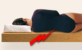Brett im Bett bei Rückenschmerzen?