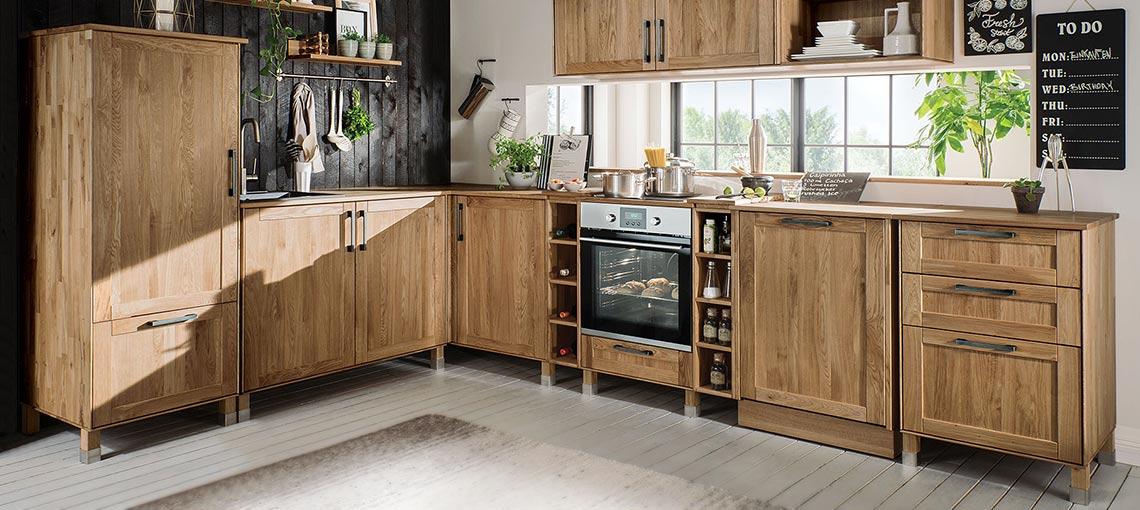 allnatura-Küchen aus edlem Massivholz - flexibel, robust und einfach schön