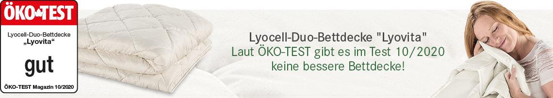 Lyocell-Duo-Bettdecke Lyovita - Laut ÖKO-TEST gibt es im Test 10/2020 keine bessere Bettdecke!