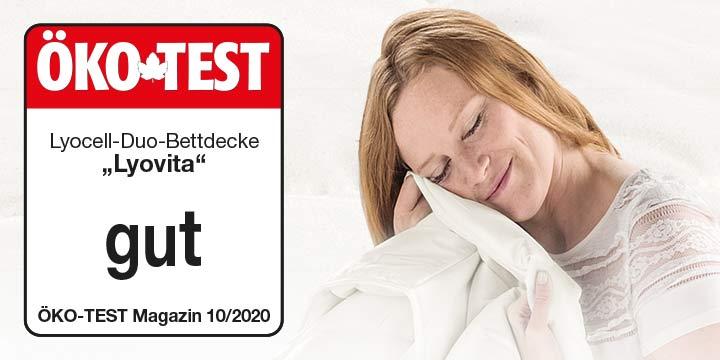 Gut bei Ökotest: Lyocell-Duo-Bettdecke Lyovita