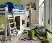 mittel hochbett kiddy. Black Bedroom Furniture Sets. Home Design Ideas