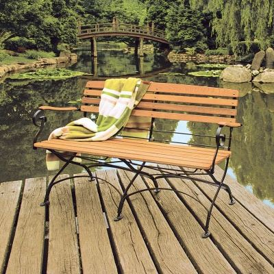 Empfehlung: Robinienholz Metall Gartenbank Avio  von allnatura*