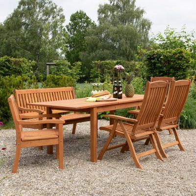 Empfehlung: Ökologisches Robinienholz Gartenmöbel-Set Celano  von allnatura*
