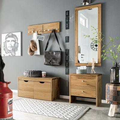 Empfehlung: Flurmöbel Garderoben-Set Massivholz Wildeiche  von allnatura*