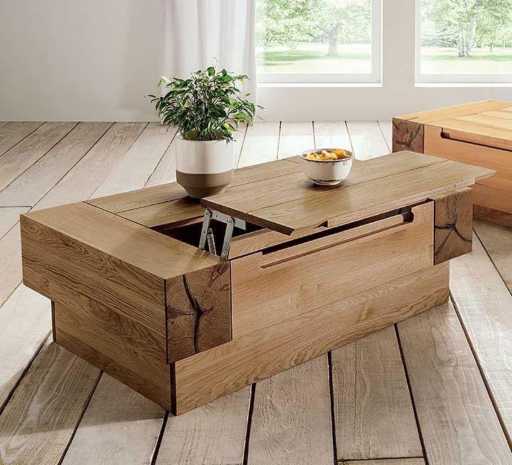 Massivholz-Couchtische mit Funktion