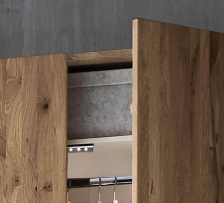 schiebet ren kleiderschrank midra 100 massiv kiefer oder wildeiche mit glas oder holz banderole. Black Bedroom Furniture Sets. Home Design Ideas