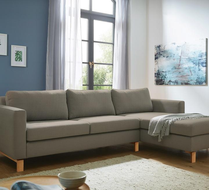 """Couch mit Recamiere """"Linea Nova"""" - Schnäppchen 2092-1858"""