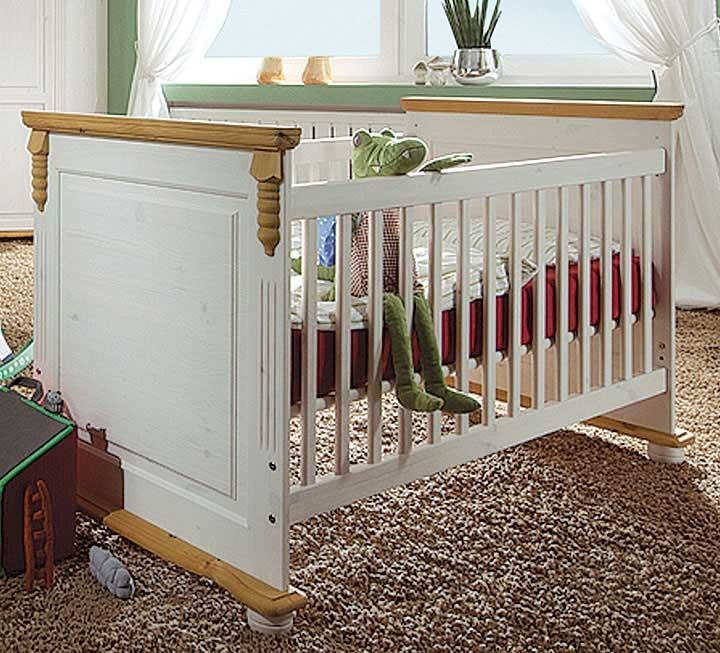 babybetten massivholz streng schadstoffgepr ft. Black Bedroom Furniture Sets. Home Design Ideas