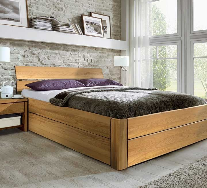 Schubkastenbetten aus Massivholz