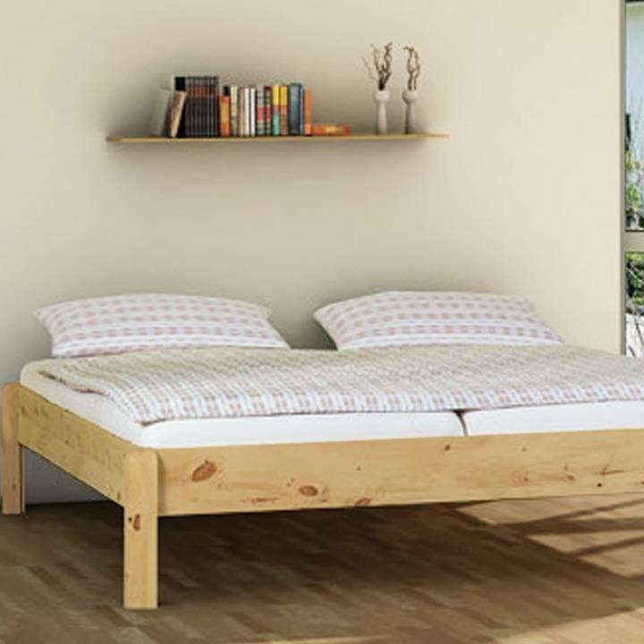 einzelbett und doppelbett pino liege