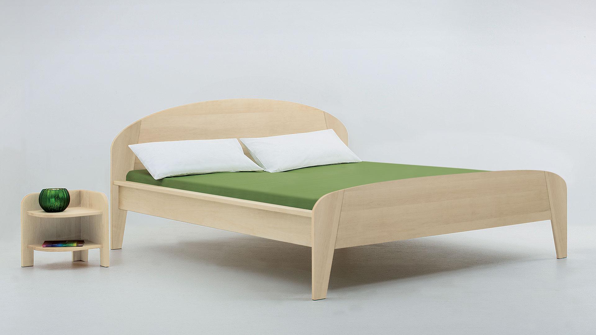 """Einzelbett und Doppelbett """"Astoria 02"""" - Diverse Oberflächen"""
