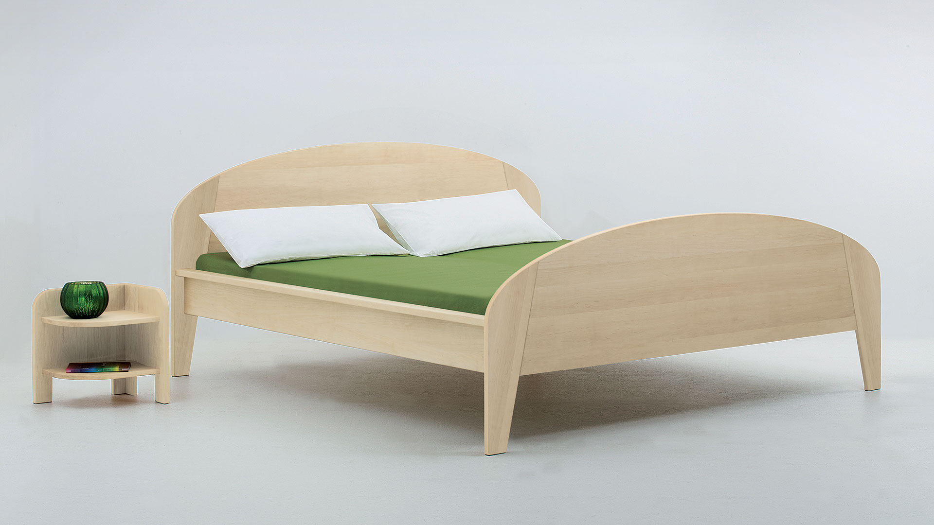 """Einzelbett und Doppelbett """"Astoria 03"""" - Diverse Oberflächen"""