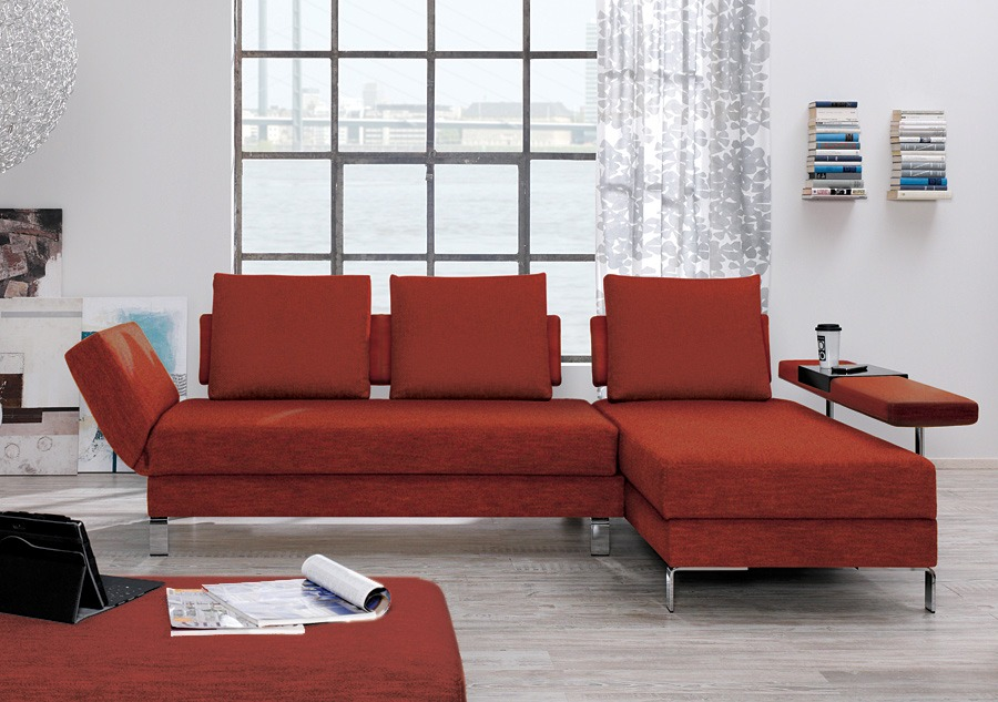 schlafsofa mit recamiere lucido. Black Bedroom Furniture Sets. Home Design Ideas
