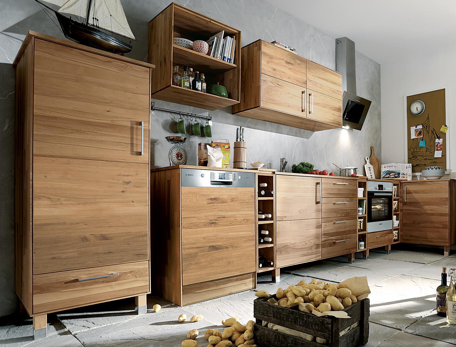 k hlschrankmodul culinara eiche. Black Bedroom Furniture Sets. Home Design Ideas