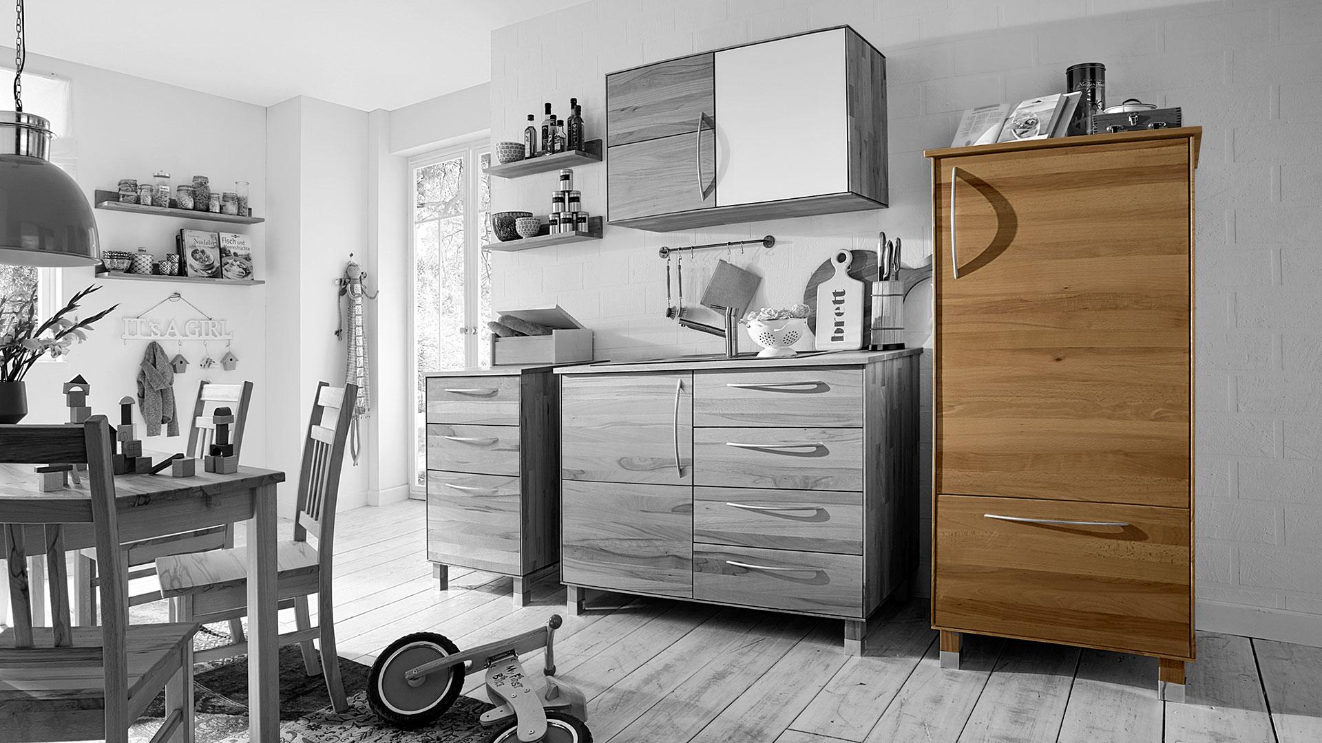 k chen vorratsschrank culinara eiche 100 massivholz. Black Bedroom Furniture Sets. Home Design Ideas