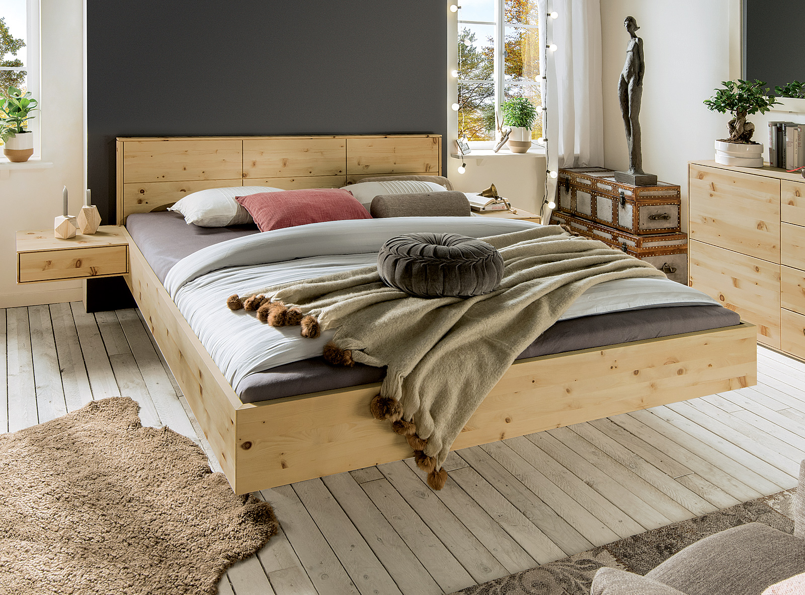 schwebebett cervino. Black Bedroom Furniture Sets. Home Design Ideas