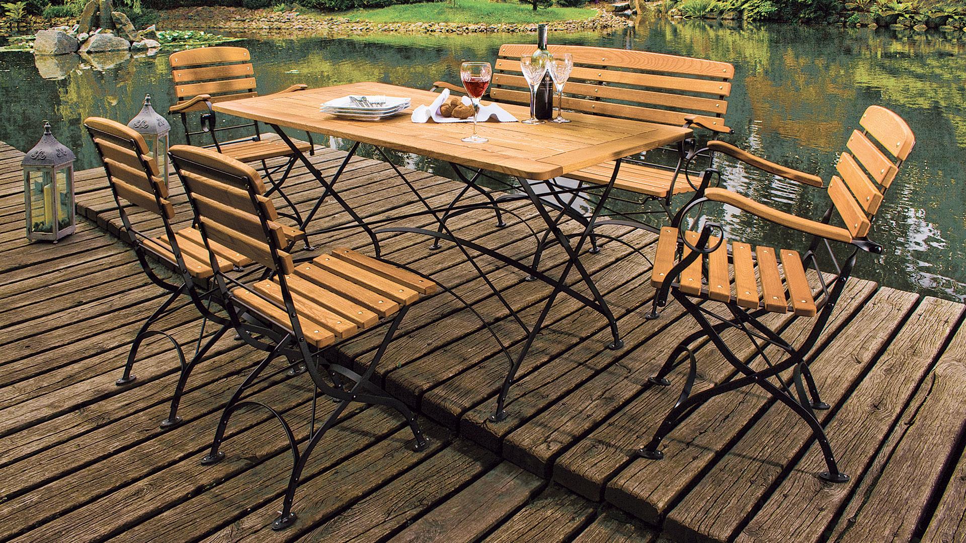 Gartenmöbel Weiß Holz Set ~ Gartenmöbel set für zwei darwin« klappbar u gartentraum