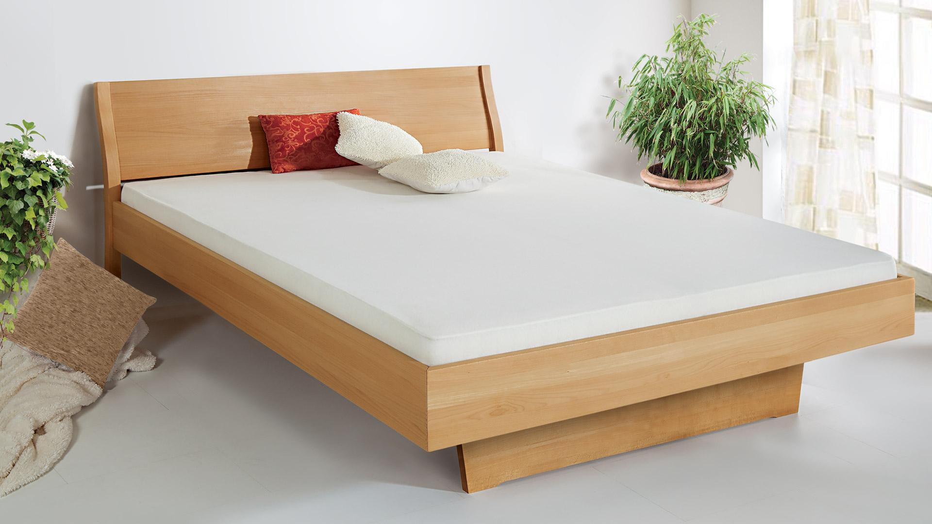 """Einzelbett und Doppelbett """"Tanara 02"""" - ohne Oberflächen-Behandlung"""