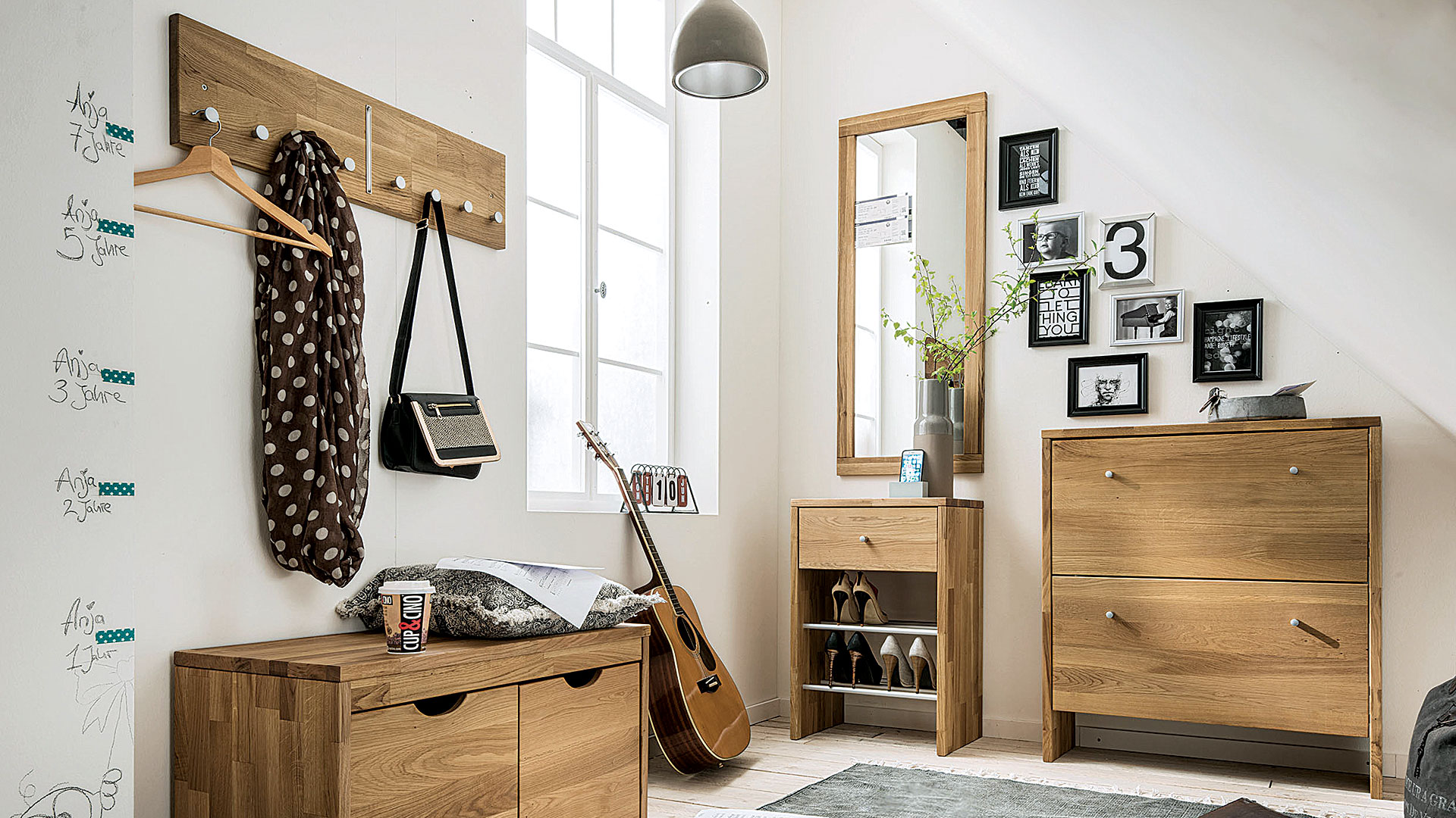 garderobe tenero massiv wildeiche. Black Bedroom Furniture Sets. Home Design Ideas