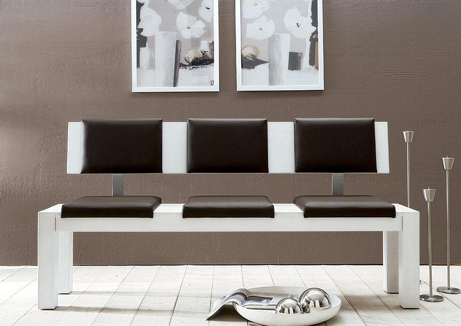Sitz- und Lehnenkissen für Sitzbank mit Lehne \