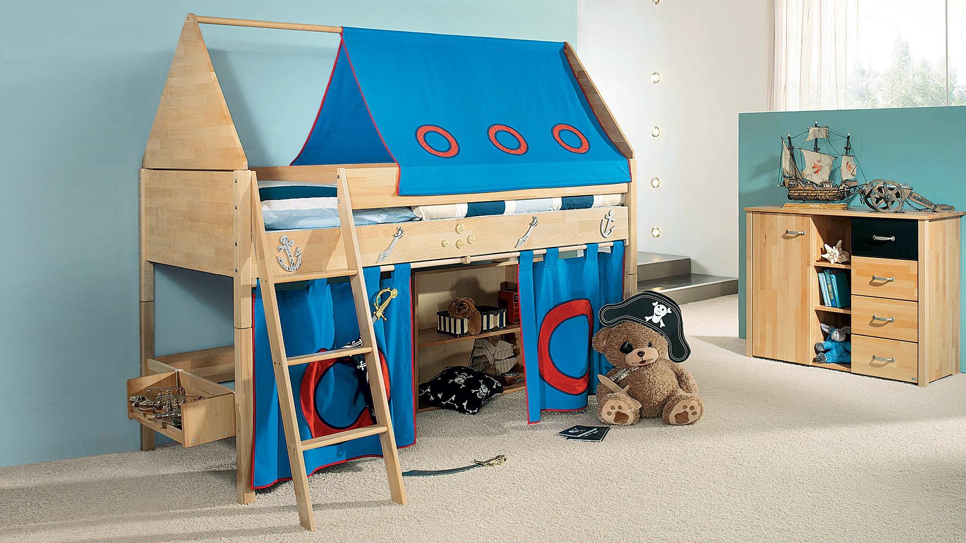 Etagenbett Hoch : Einhängeregal für hoch und etagenbett groß mod kiefer