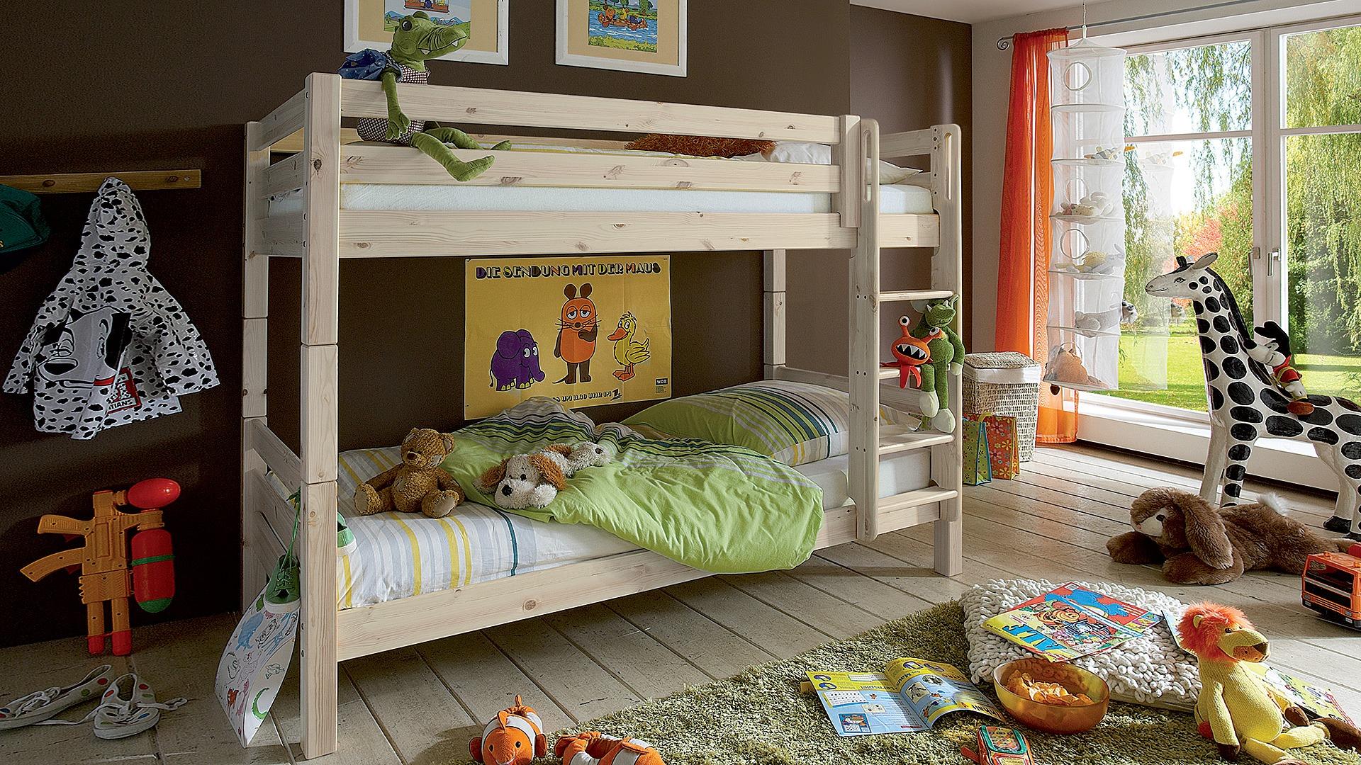 Etagenbett Gute Qualität : Massiv kiefer etagenbett hochbett weiß inkl lattenroste und