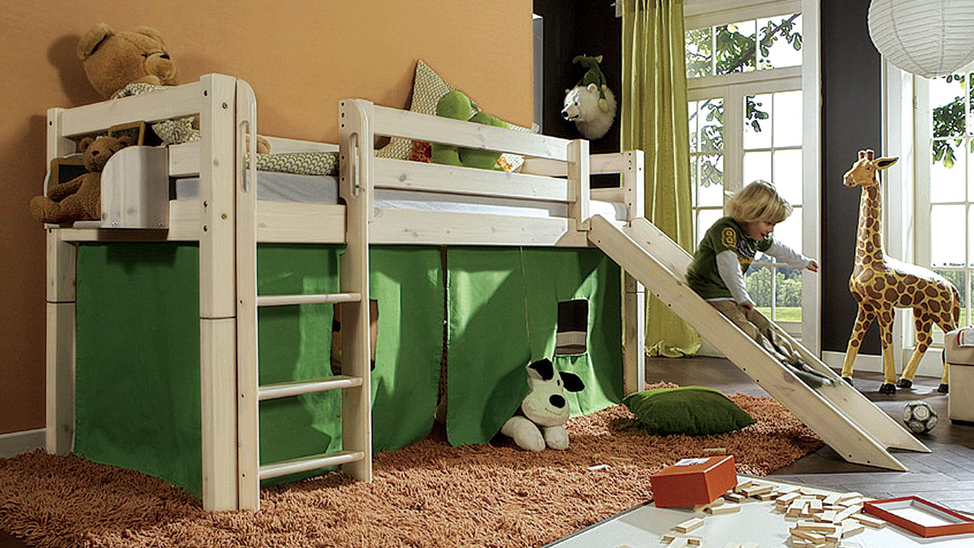 Etagenbett Leiter : Hochbett mit leiter free oliver furniture wood eiche