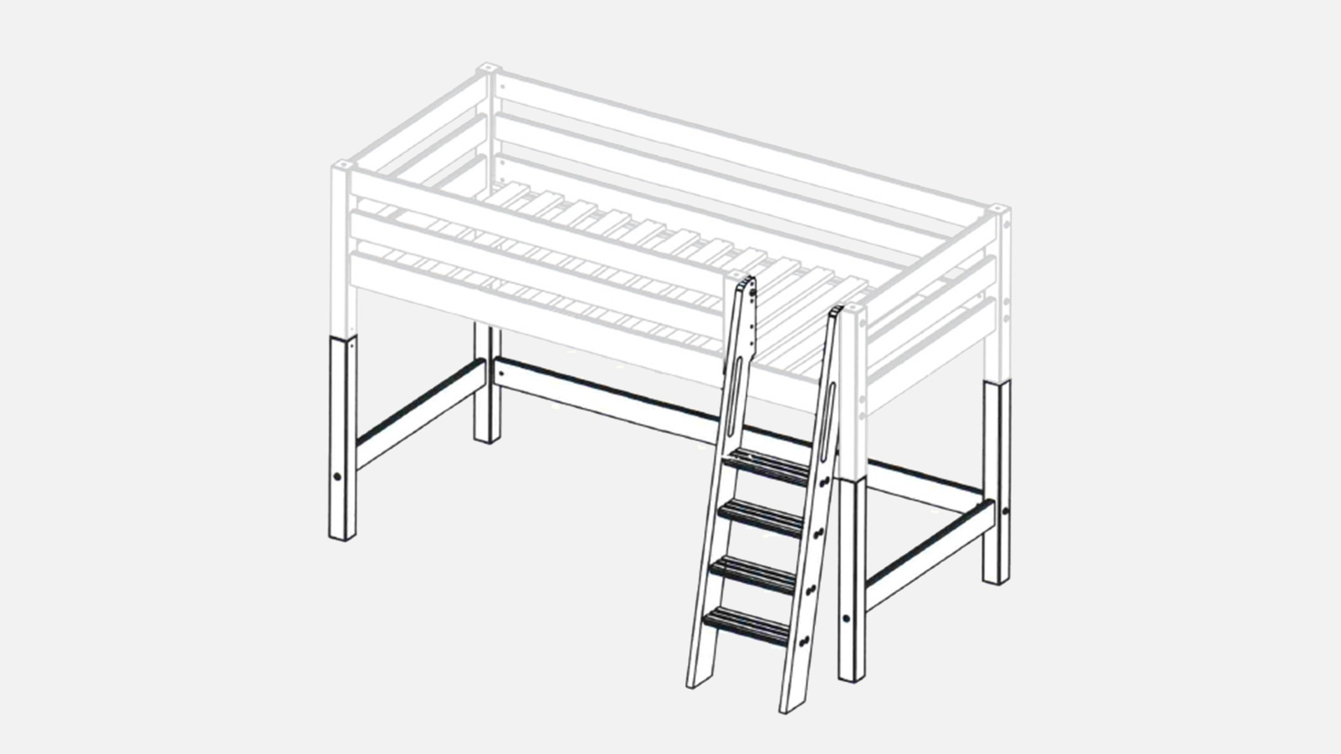 Mini Hochbett Kiddy Umbau Sets
