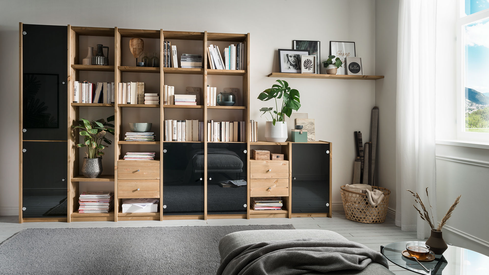 regal system sedes kiefer gelaugt ge lt einzelelemente. Black Bedroom Furniture Sets. Home Design Ideas