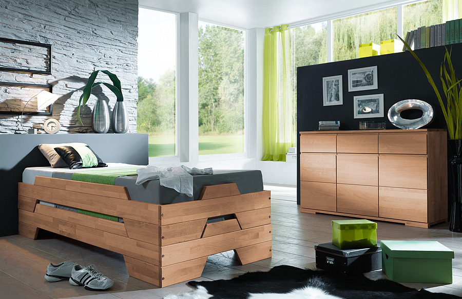 stapelbett scalo 100 massiv buche. Black Bedroom Furniture Sets. Home Design Ideas