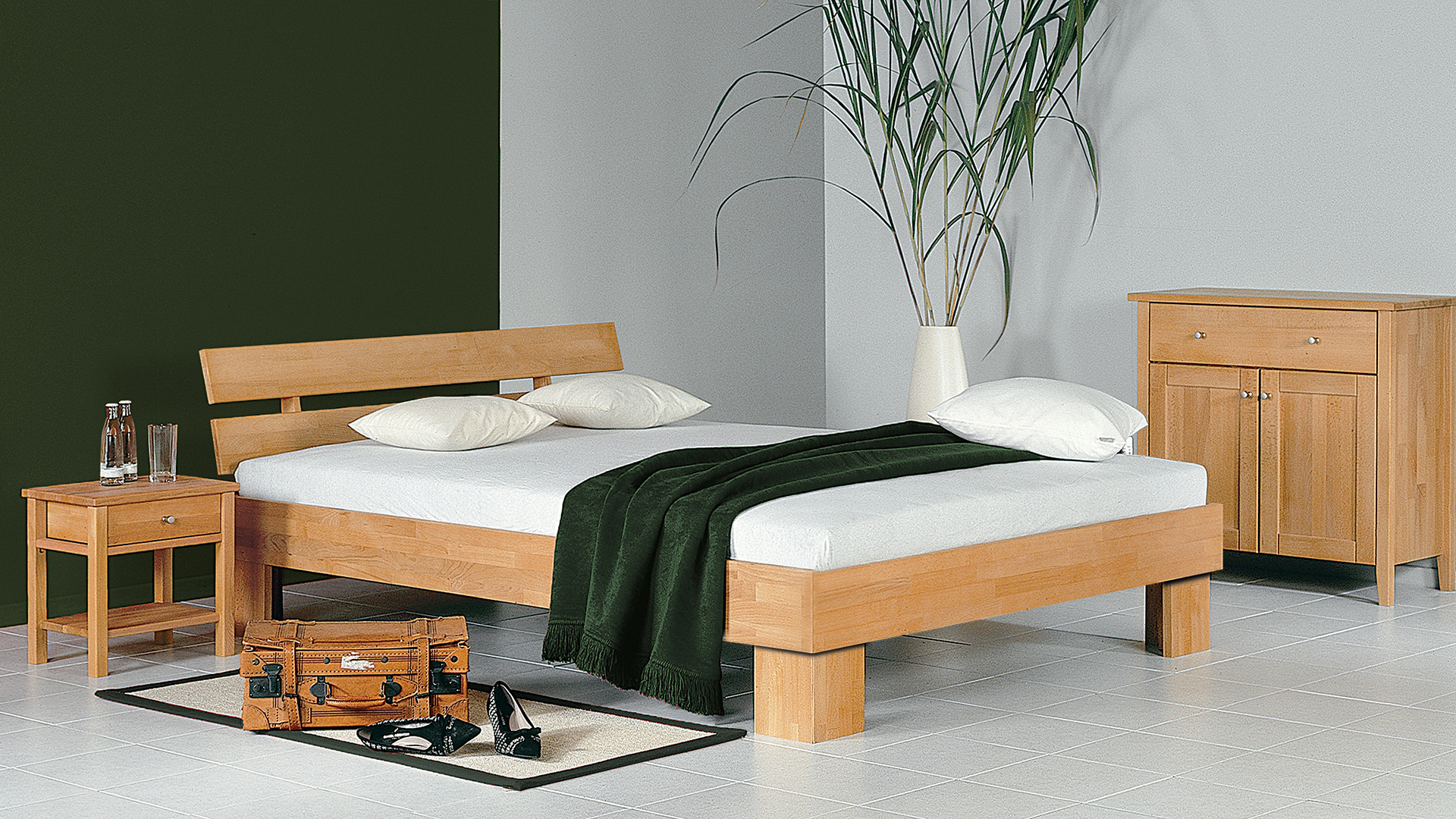 Einzelbett und doppelbett monea for Jugendzimmer doppelbett