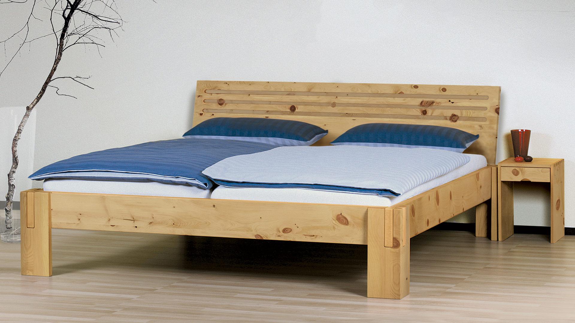 Einzelbett und doppelbett salerno 03 zirbe for Doppelbett jugendzimmer