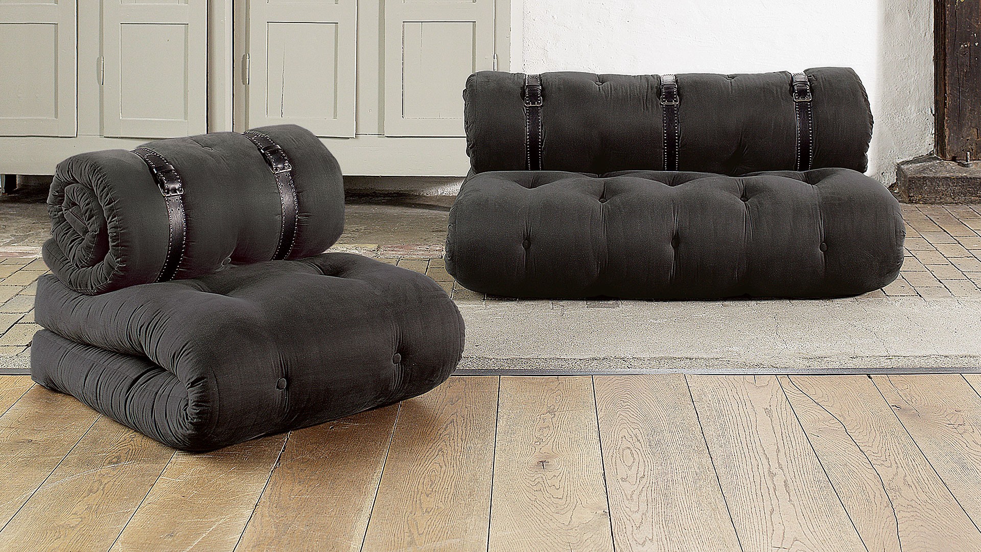 futon schlafsofa sasaya. Black Bedroom Furniture Sets. Home Design Ideas