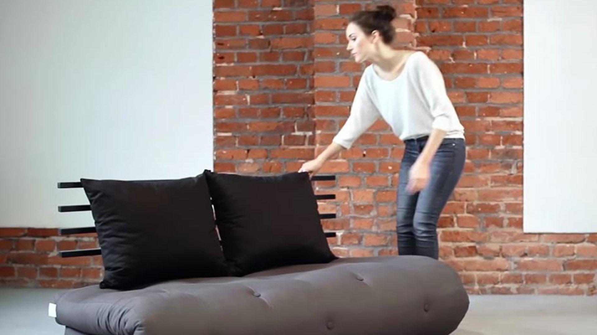 futon schlafsofa sagano. Black Bedroom Furniture Sets. Home Design Ideas
