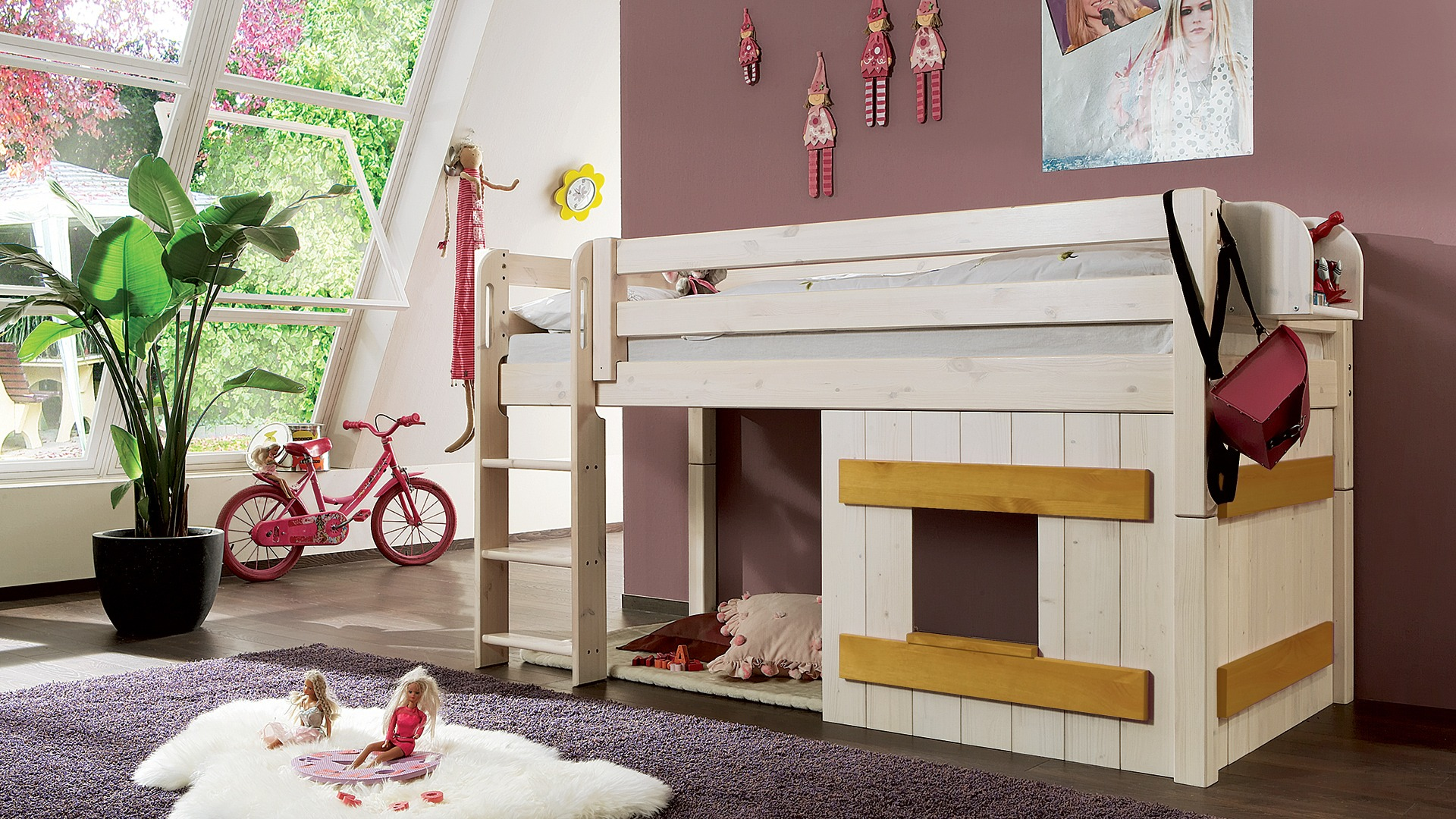 holzverkleidung f r mini hochbett kiddy. Black Bedroom Furniture Sets. Home Design Ideas