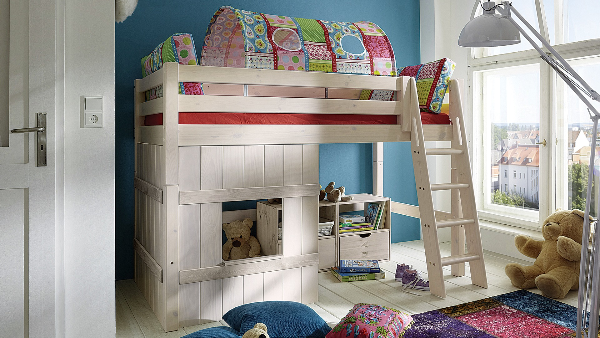 mittel hochbett kiddy. Black Bedroom Furniture Sets. Home Design Ideas