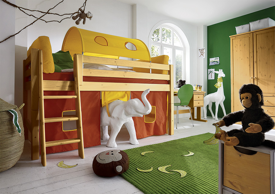 spielvorhang f r mini hochbett kiddy. Black Bedroom Furniture Sets. Home Design Ideas