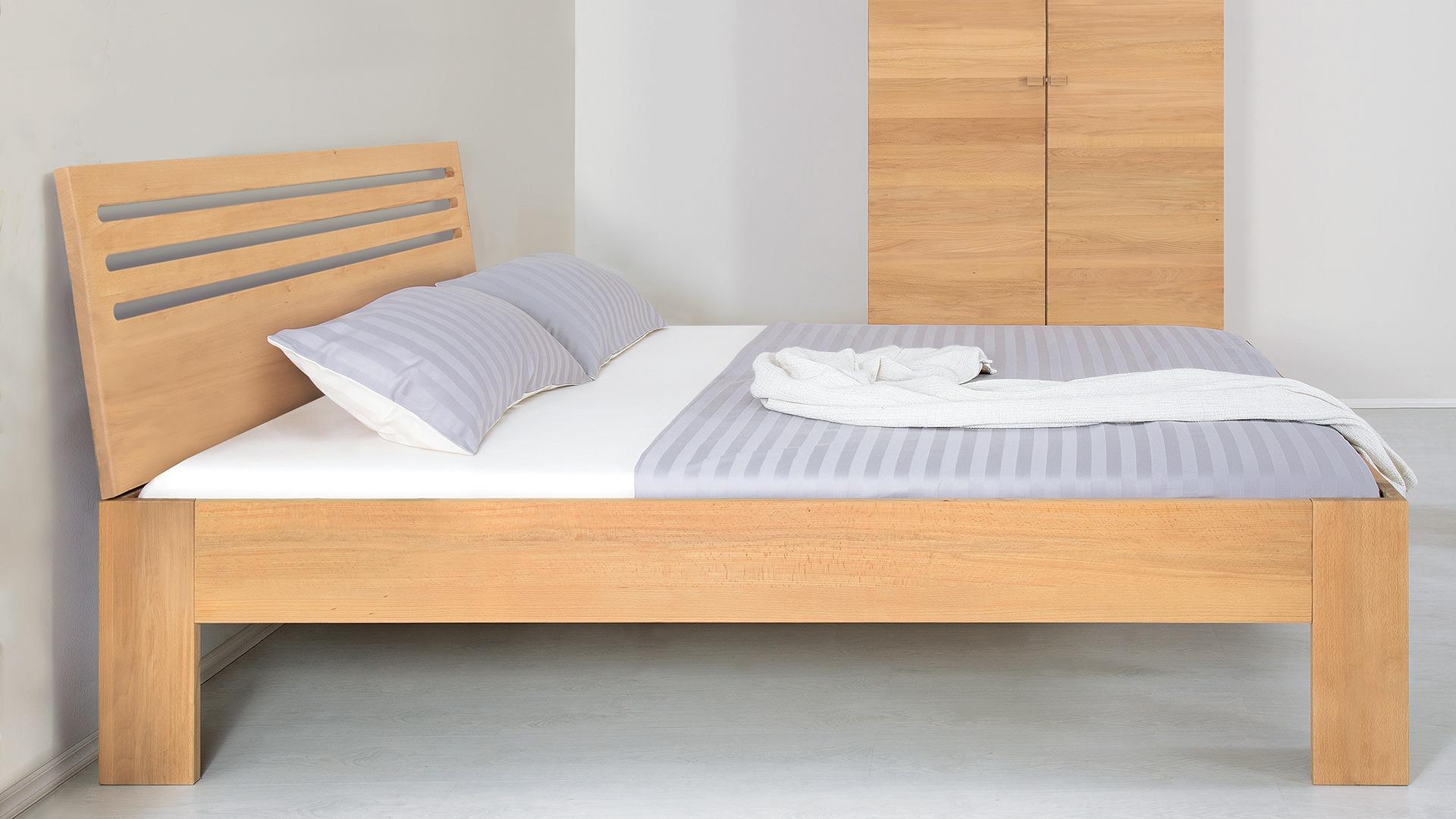 """Einzelbett und Doppelbett """"Cubus 03"""" - Diverse Oberflächen"""