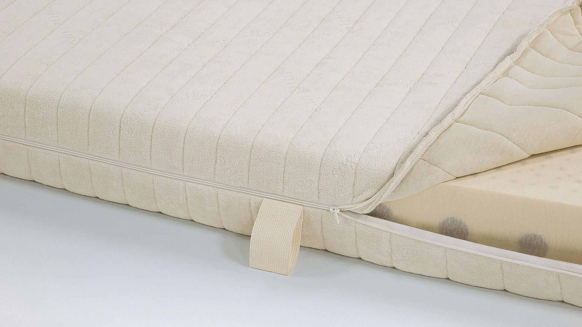 Vorschau Naturlatex Matratze Supra Comfort Unterbezug Aus Baumwoll Feinjersey Trikot