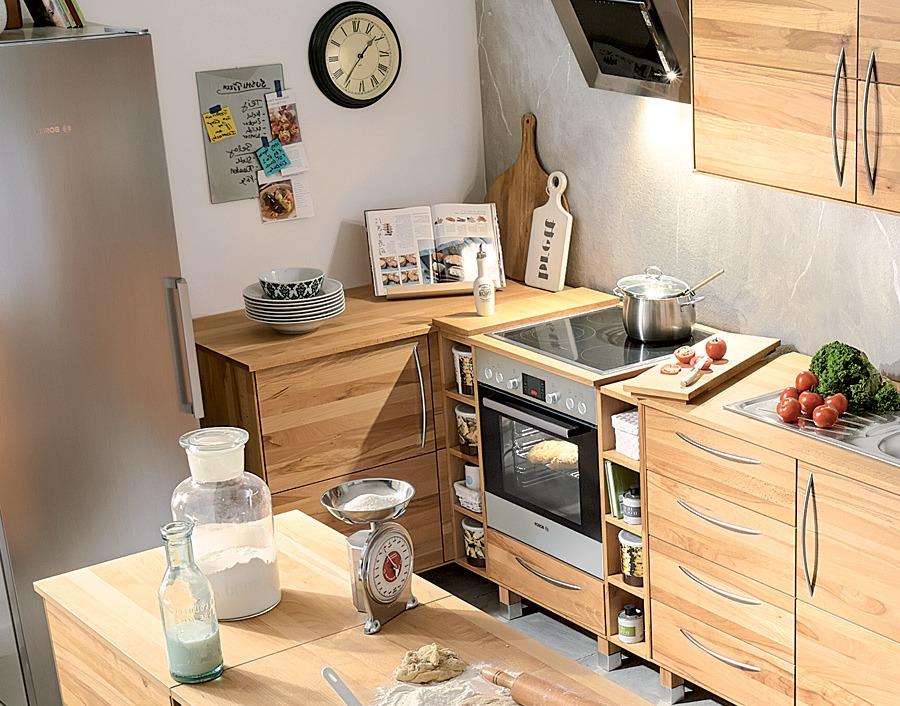 eckunterschrank culinara kernbuche. Black Bedroom Furniture Sets. Home Design Ideas