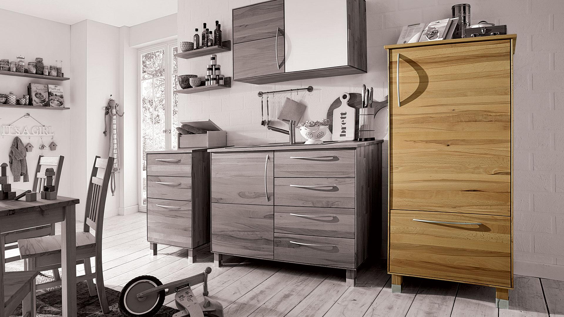 k chen vorratsschrank culinara 100 massivholz. Black Bedroom Furniture Sets. Home Design Ideas