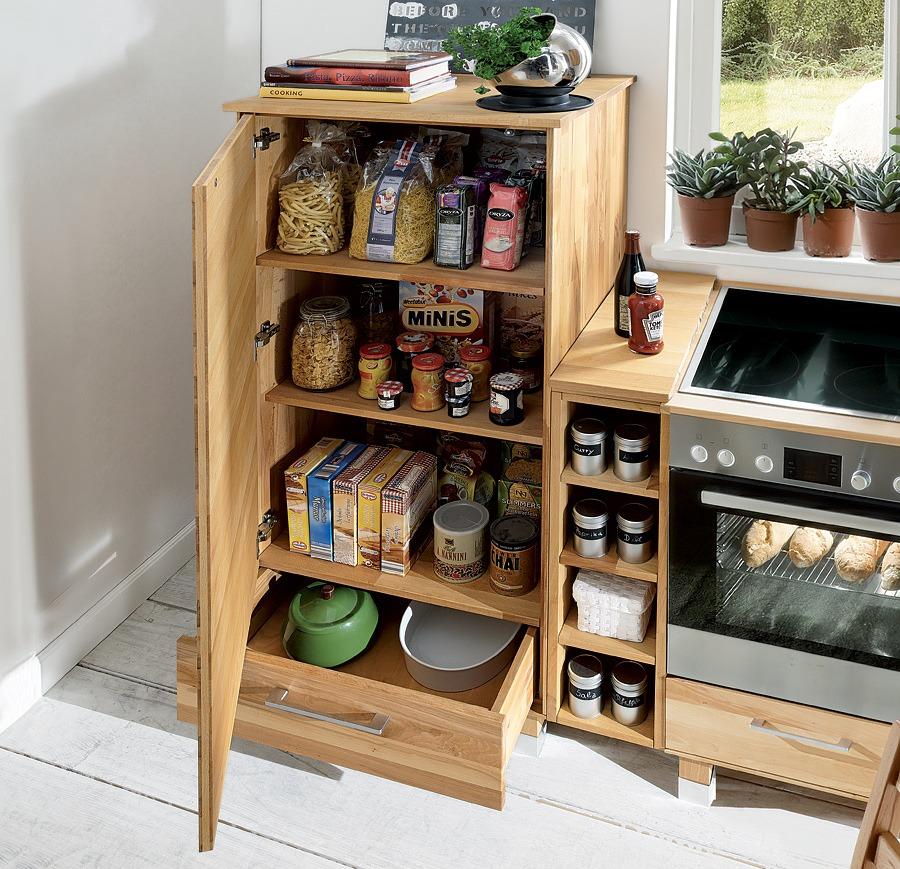 vorratsschrank culinara kernbuche. Black Bedroom Furniture Sets. Home Design Ideas
