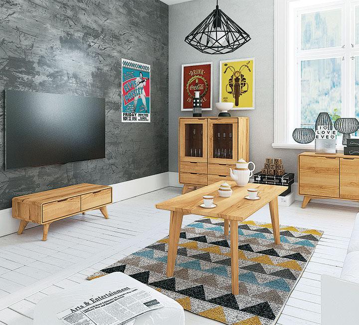 Wohnzimmermöbel aus Massivholz