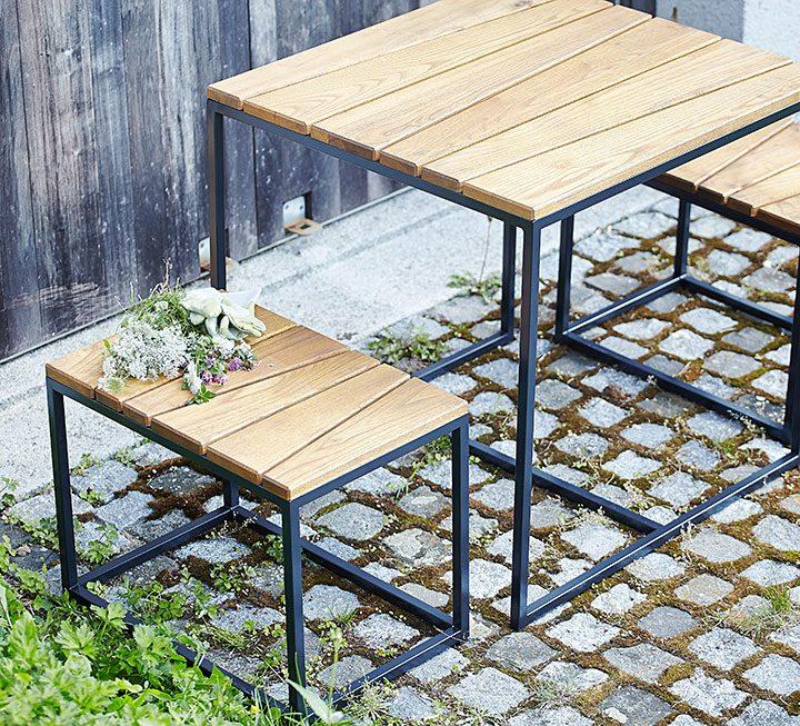 Platzsparende Gartenmöbel