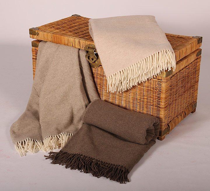 Wolldecken und Plaids mit Merino-Lammwolle