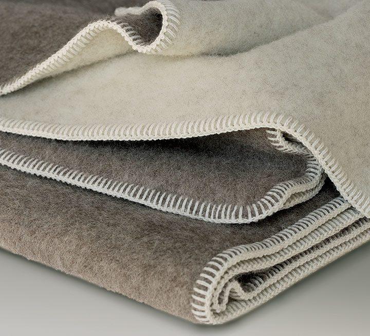 Wolldecken und Plaids mit Schafschurwolle