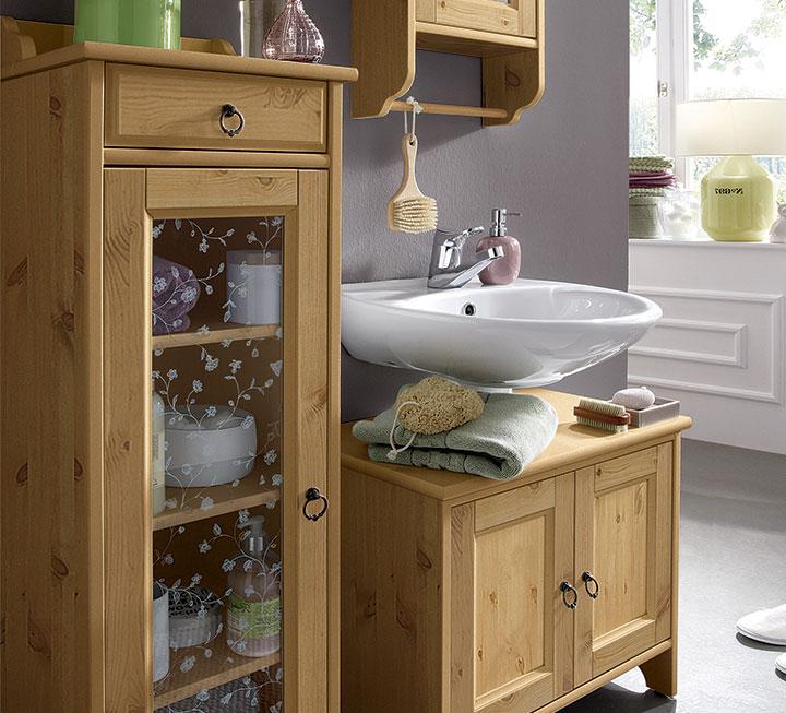 Badezimmermöbel Holz Natur