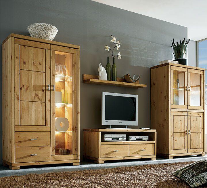 Massivholzmöbel wohnzimmer  Wohnzimmermöbel aus Massivholz