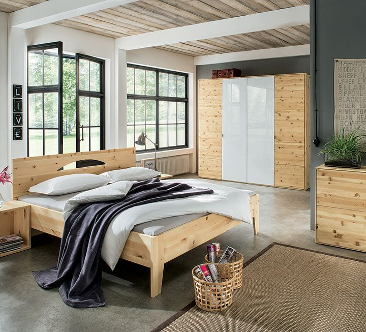 Schlafzimmer-Programme aus Zirbe